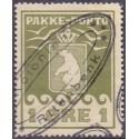 Grønland/Greenland 1905 1 Øre. Olivgrøn. AFA nr. 1 stemplet