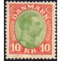 1927-28. Chr. X. 10 kr. AFA nr. 177 postfrisk