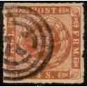 1863. 4 Skilling, brun, AFA nr. 9 */unused