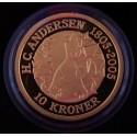 "Eventyrmønt, H.C. Andersen, 10 kr 2005 ""Snedronningen"", Sieg 12, i original æske fra Den Kgl. Mønt"