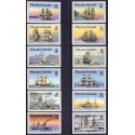 Pitcairn Islands. 1988 Ships complete set. MNH.