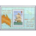 Pitcairn Islands. 1988 Ship block 9. MNH.