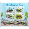 Kiribati.1987. Lizards in complete set MNH.