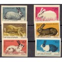 Bulgaria Orchid 1986 Rabbit complete set MNH
