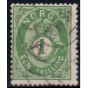 Norge 1872-75. 1 sk. AFA nr. 16 st.