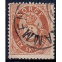 Norge 1872-75. 6 sk.  AFA nr. 20 st.