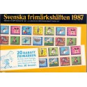 Sverige/Sweden. Complet Year set BOOKLETS 1986