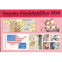 Sverige/Sweden. Complet Year set BOOKLETS 1987