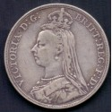 England-Great Britain. 1887. Double-florin. Victoria, Ag,