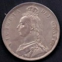 England-Great Britain. 1887 Queen Victoria Half Crown. Ag,