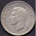 Sydafrika-South African. 5 Shillings 1952. KM41. Ag