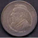 Syd Afrika. Two Shillings 1894, KM6,  Ag