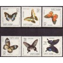 Korea. Butterfly in complete set. Michel 380-3 **/MNH