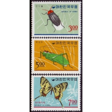 Vietnam. Butterfly in complete set. Michel 405-10 **/MNH