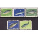 Korea. Fish, complete set. Michel no. 293-97 **/MNH.