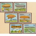 Liberia 1978 Zeppelin imperforated set, Michel 801-06 **/MNH