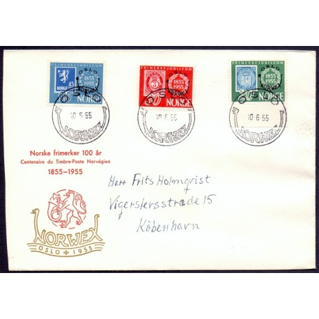 Norge/Norway 1955 Norwex på FDC