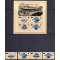 Falkland Islands.1986 AMERIPEX in complete set, and block MNH
