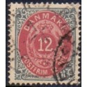 1875. To-farvede 12 øre AFA nr. 26ay, stemplet