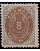1871-74. 8 Skilling ret ramme